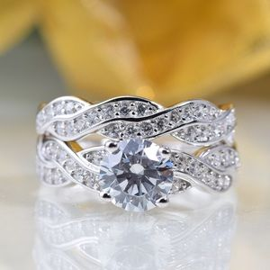 Jewelry - Certified 1.91 CTTW bridal sets silver rings